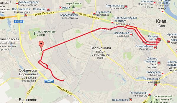 """Маршрутка № 554 (метро """"Дворец"""