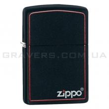 Зажигалка Zippo 218 ZB Black Matte With Zippo Border