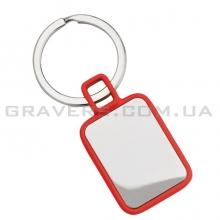 Брелок прямоугольный, красный (br142)
