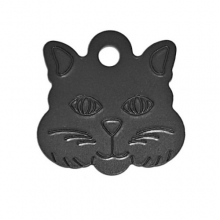 Адресник Кошка 29х29мм - черная