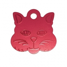 Адресник Кошка 29х29мм - красная