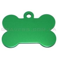 Адресник Косточка 38x25мм - большая, зеленая