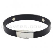 Кожаный браслет с металлической пластиной (BR-511/2)