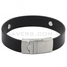 Кожаный браслет с металлической пластиной (BR-557/2)