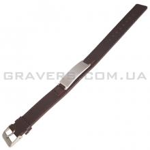 Коричневый браслет из кожи с пластиной (BR-503)