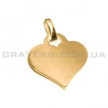 Кулон сердце с бунтом из серебра 25мм