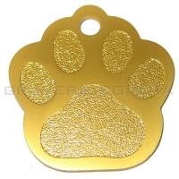 Адресник Лапка 35x33мм - золотая