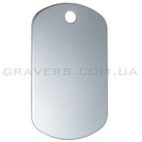 Жетон 50x29мм - серебристый
