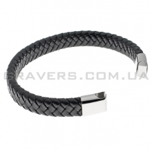 Плетеный кожаный браслет с магнитным замком (BR-620)