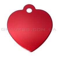 Адресник Сердце 31x35мм - красное