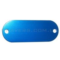 Жетон под заклёпки 19x50мм - синий
