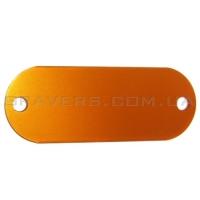 Жетон под заклёпки 19x50мм - оранжевый