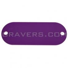 Жетон под заклёпки 19x50мм - фиолетовый