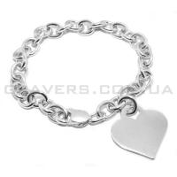 Серебряный браслет-цепочка с сердечком