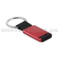 Брелок алюминиевый, красный (br103)