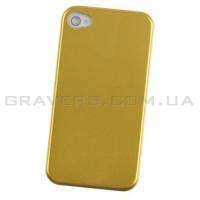Чехол алюминиевый для iPhone 4/4S - золотистый