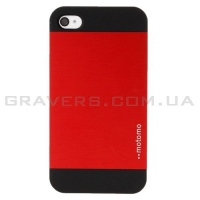 Алюминиевый чехол Motomo для iPhone 4/4s - красный
