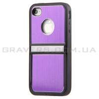 Чехол алюминиевый с подставкой на iPhone 5/5S - фиолетовый