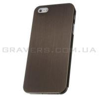 Чехол ультратонкий металлический для iPhone 5/5S - коричневый