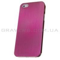 Чехол ультратонкий металлический для iPhone 5/5S - розовый
