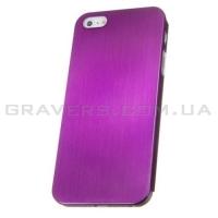 Чехол ультратонкий металлический для iPhone 5/5S - фиолетовый