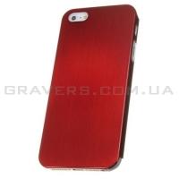 Чехол ультратонкий металлический для iPhone 5/5S - красный