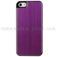 Чехол с алюминиевой накладкой для iPhone 5/5S - фиолетовый