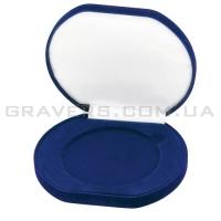 Коробка для медалей бархатная 90мм (синяя)