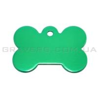 Адресник Косточка 31x21мм - маленькая, зеленая