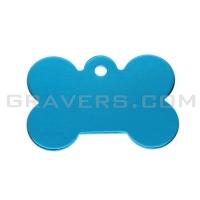 Адресник Косточка 31x21мм - маленькая, голубая