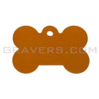 Адресник Косточка 31x21мм - маленькая, оранжевая