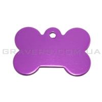 Адресник Косточка 31x21мм - маленькая, фиолетовая