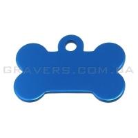 Адресник Косточка 32x19мм - маленькая, синяя