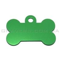 Адресник Косточка 32x19мм - маленькая, зеленая