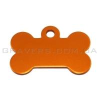 Адресник Косточка 32x19мм - маленькая, оранжевая