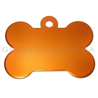Адресник Косточка 38x25мм - большая, оранжевая