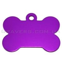 Адресник Косточка 38x28мм - большая, фиолетовая
