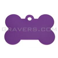 Адресник Косточка 38x25мм - большая, фиолетовая
