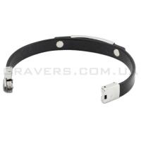 Кожаный браслет с металлической пластиной (BR-514/2)