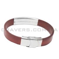 Кожаный браслет с металлической пластиной (BR-515/5)