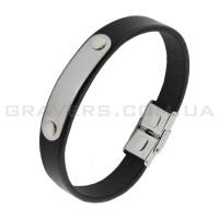 Кожаный браслет с металлической пластиной (BR-519/2)