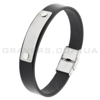 Кожаный браслет с металлической пластиной (BR-538/2)
