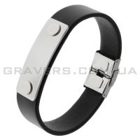 Кожаный браслет с металлической пластиной (BR-548/2)