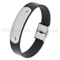 Кожаный браслет с металлической пластиной (BR-549/2)