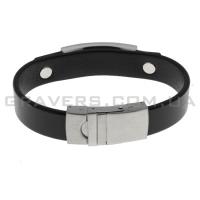Кожаный браслет с металлической пластиной (BR-5532/2)