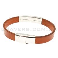 Кожаный браслет с металлической пластиной (BR-515/7)