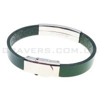Кожаный браслет с металлической пластиной (BR-515/9)