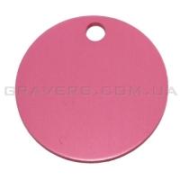 Адресник Круг 32мм - розовый