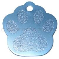 Адресник Лапка 35x33мм - голубая