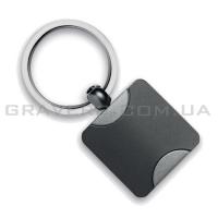 Брелок квадратный металлический (br096)